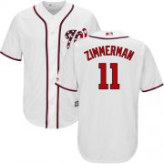 Wholesale Cheap Nationals #11 Ryan Zimmerman White Cool Base Stitched Youth MLB Jersey