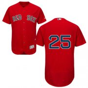 Wholesale Cheap Red Sox #25 Jackie Bradley Jr Red Flexbase Authentic Collection Stitched MLB Jersey