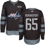 Wholesale Cheap Adidas Capitals #65 Andre Burakovsky Black 1917-2017 100th Anniversary Stitched NHL Jersey