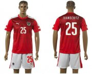 Wholesale Cheap Austria #25 Ivanschitz Red Home Soccer Country Jersey