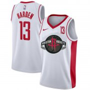 Wholesale Cheap Rockets 13 James Harden White Nike City Edition Number Swingman Jersey