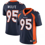 Wholesale Cheap Nike Broncos #95 Derek Wolfe Blue Alternate Youth Stitched NFL Vapor Untouchable Limited Jersey