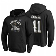 Wholesale Cheap New Orleans Saints #41 Alvin Kamara 2019 NFC South Division Champions Black Cover Two Hoodie