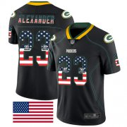Wholesale Cheap Nike Packers #23 Jaire Alexander Black Men's Stitched NFL Limited Rush USA Flag Jersey