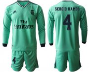 Wholesale Cheap Real Madrid #4 Sergio Ramos Third Long Sleeves Soccer Club Jersey