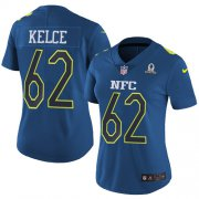 Wholesale Cheap Nike Eagles #62 Jason Kelce Navy Women's Stitched NFL Limited NFC 2017 Pro Bowl Jersey