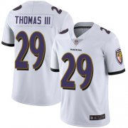 Wholesale Cheap Nike Ravens #29 Earl Thomas III White Men's Stitched NFL Vapor Untouchable Limited Jersey