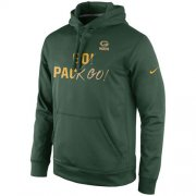 Wholesale Cheap Green Bay Packers Nike Gold Collection KO Pullover Performance Hoodie Green