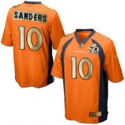 Wholesale Cheap Nike Broncos #10 Emmanuel Sanders Orange Team Color Men's Stitched NFL Game Super Bowl 50 Collection Jersey