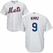 Wholesale Cheap Mets #9 Brandon Nimmo White(Blue Strip) Home Cool Base Stitched MLB Jersey