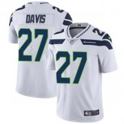 Wholesale Cheap Nike Seahawks #27 Mike Davis White Men's Stitched NFL Vapor Untouchable Limited Jersey