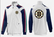Wholesale Cheap NHL Boston Bruins Zip Jackets White