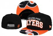 Wholesale Cheap NHL Philadelphia Flyers Team Logo Black Snapback Adjustable Hat