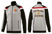 Wholesale Cheap NFL Cleveland Browns Heart Jacket Grey