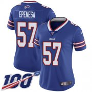 Wholesale Cheap Nike Bills #57 A.J. Epenesas Royal Blue Team Color Women's Stitched NFL 100th Season Vapor Untouchable Limited Jersey