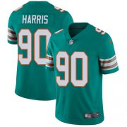 Wholesale Cheap Nike Dolphins #90 Charles Harris Aqua Green Alternate Men's Stitched NFL Vapor Untouchable Limited Jersey