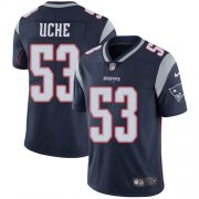 Cheap Nike Patriots #53 Josh Uche Navy Blue Team Color Youth Stitched NFL Vapor Untouchable Limited Jersey