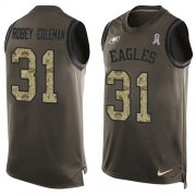 Wholesale Cheap Nike Eagles #31 Nickell Robey-Coleman Green Men's Stitched NFL Limited Salute To Service Tank Top Jersey