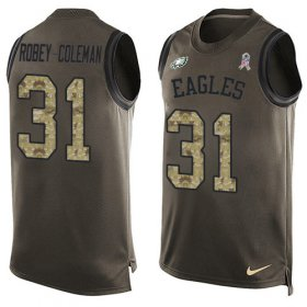 Wholesale Cheap Nike Eagles #31 Nickell Robey-Coleman Green Men\'s Stitched NFL Limited Salute To Service Tank Top Jersey