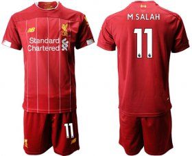Wholesale Cheap Liverpool #11 M.Salah Red Home Soccer Club Jersey