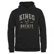 Wholesale Cheap Men's Los Angeles Kings Black Camo Stack Pullover Hoodie