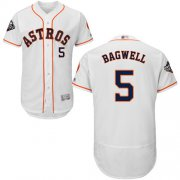 Wholesale Cheap Astros #5 Jeff Bagwell White Flexbase Authentic Collection 2019 World Series Bound Stitched MLB Jersey