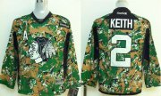 Wholesale Cheap Blackhawks #2 Duncan Keith Camo Veterans Day Practice Stitched Youth NHL Jersey