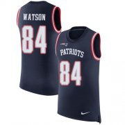 Wholesale Cheap Nike Patriots #84 Benjamin Watson Navy Blue Team Color Men's Stitched NFL Limited Rush Tank Top Jersey