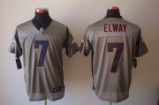 Wholesale Cheap Nike Broncos #7 John Elway Grey Shadow Men's Stitched NFL Elite Jersey