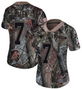 Wholesale Cheap Nike Panthers #7 Kyle Allen Camo Women's Stitched NFL Limited Rush Realtree Jersey