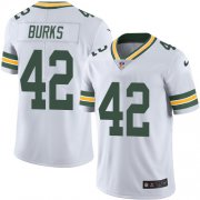 Wholesale Cheap Nike Packers #42 Oren Burks White Men's Stitched NFL Vapor Untouchable Limited Jersey