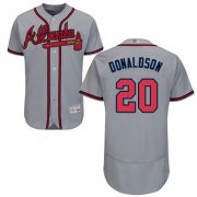 Wholesale Cheap Braves #20 Josh Donaldson Grey Flexbase Authentic Collection Stitched MLB Jersey