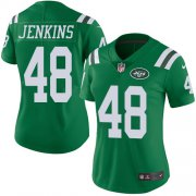 Wholesale Cheap Nike Jets #48 Jordan Jenkins Green Women's Stitched NFL Limited Rush Jersey