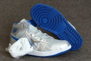 Wholesale Cheap Air Jordan 1 Mid Shoes Silver/blue-white