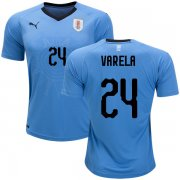 Wholesale Cheap Uruguay #24 Varela Home Soccer Country Jersey