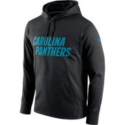 Wholesale Cheap Men's Carolina Panthers Nike Black Circuit Wordmark Essential Performance Pullover Hoodie