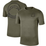 Wholesale Cheap Men's Los Angeles Chargers Nike Olive 2019 Salute to Service Sideline Seal Legend Performance T-Shirt