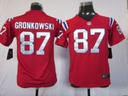 Wholesale Cheap Nike Patriots #87 Rob Gronkowski Red Alternate Youth Stitched NFL Elite Jersey