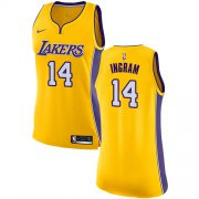 Wholesale Cheap Nike Los Angeles Lakers #14 Brandon Ingram Gold Women's NBA Swingman Icon Edition Jersey