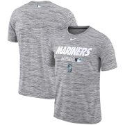 Wholesale Cheap Seattle Mariners Nike Authentic Collection Velocity Team Issue Performance T-Shirt Gray