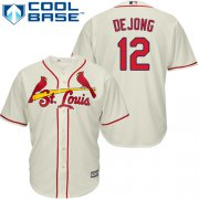Wholesale Cheap Cardinals #12 Paul DeJong Cream New Cool Base Stitched MLB Jersey