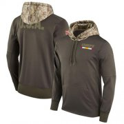 Wholesale Cheap Youth Kansas City Chiefs Nike Olive Salute to Service Sideline Therma Pullover Hoodie