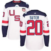 Wholesale Cheap Team USA #20 Ryan Suter White 2016 World Cup Stitched Youth NHL Jersey