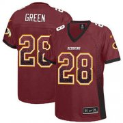 Wholesale Cheap Nike Redskins #28 Darrell Green Burgundy Red Team Color Women's Stitched NFL Elite Drift Fashion Jersey