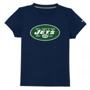 Wholesale Cheap New York Jets Authentic Logo Youth T-Shirt Dark Blue