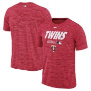 Wholesale Cheap Minnesota Twins Nike Authentic Collection Velocity Team Issue Performance T-Shirt Red