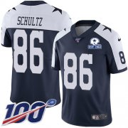 Wholesale Cheap Nike Cowboys #86 Dalton Schultz Navy Blue Thanksgiving Men's Stitched With Established In 1960 Patch NFL 100th Season Vapor Untouchable Limited Throwback Jersey