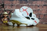 Wholesale Cheap Kids' Air Jordan 13 Defining Moments Shoes White/Gold-red