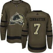 Wholesale Cheap Adidas Avalanche #7 Kevin Connauton Green Salute to Service Stitched NHL Jersey