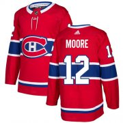 Wholesale Cheap Adidas Canadiens #12 Dickie Moore Red Home Authentic Stitched NHL Jersey